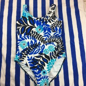 Catalina Brand Tropical Palm Print Swimsuit